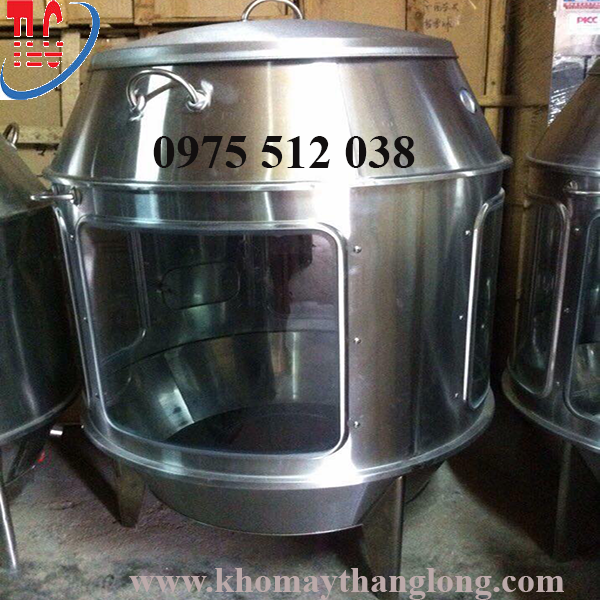 Lò quay gà vịt dùng than dạng kính được sử dụng rộng rãi trong các lò nướng
