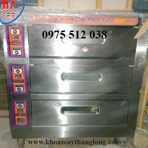 Lò nướng 3 tầng 9 khay dùng điện có hộp điều khiển tự động dễ dàng sử dụng