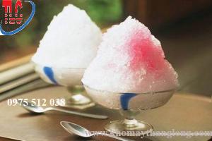 máy bào đá dạng tuyết được nhiều cửa hàng siro đá bào, kem tuyết, kem đá bào sử dụng