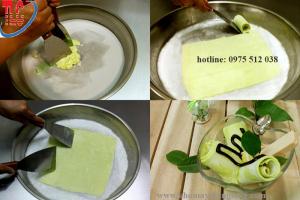 Cách làm kem từ máy xào kem cuộn kiểu Thái