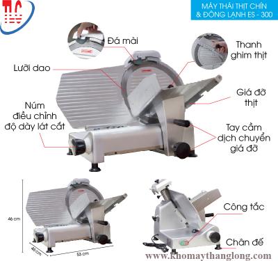 Máy thái thịt đông lạnh ES 300 có thể điều chỉnh độ dày mỏng thái thịt