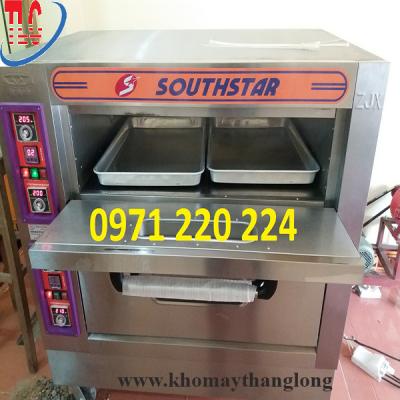 Lò nướng điện 2 tầng 4 khay có hộp điều khiển tự động dễ dàng sử dụng
