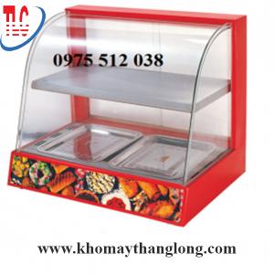 Tủ giữ nhiệt thực phẩm kính cong 2 tầng chất lượng tại kho máy Thăng Long